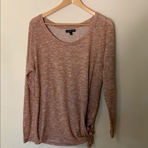 Lane Bryant rose gold knotted sweater 14/16